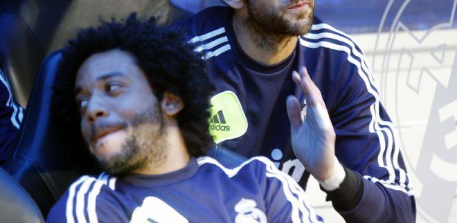 Marcelo en el banquillo madridista/FOTO: eldia.es