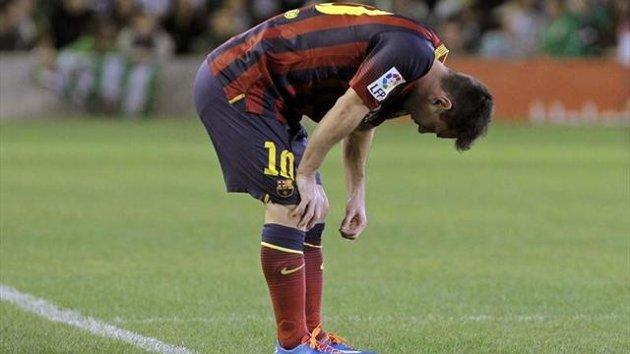 Messi, abatido tras su lesión