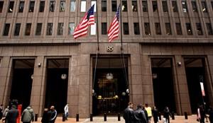 entrada a la sede de Goldman Sachs en Nueva York