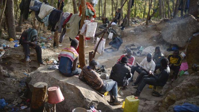Uno de los campamentos del monte Gurugú / Fuente: El Diario.es
