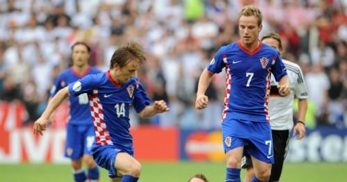 Modrić y Rakitić con la selección croata (Foto intereconomía.com)