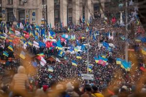 Protestas proeuropeas en la plaza de la Independencia de Kiev