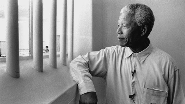 Nelson Mandela en su celda